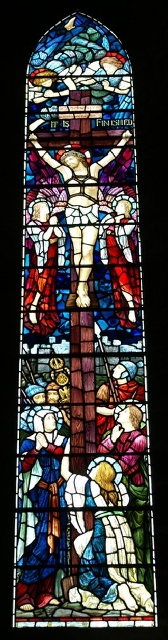 Brechin Cathedral - Image: Brechin Cathedral 20090616 The crucifixion (1902, Henry Holiday)