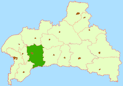 Location of Kobrinas rajons