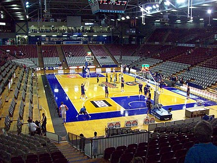 Titanium Security Arena, the home of basketball in South Australia Brett Maher Court 023.jpg