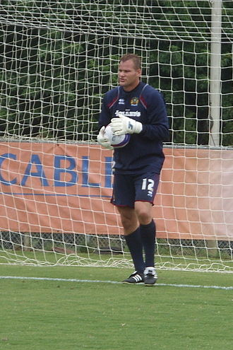 Brian Jensen (footballer, born 1975) - Jensen during a training session with Burnley during their tour of America in 2008