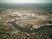 Brisbane from air