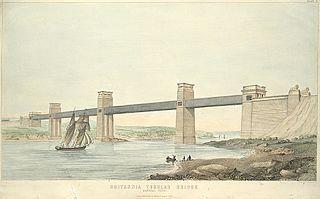 Britannia Tubular Bridge. General view