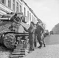British Sherman tank crew load ammunition Xanten 21-03-1945 IWM BU 1966.jpg