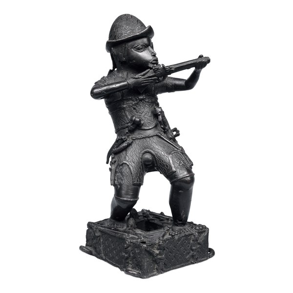 Bronze Figure of Portuguese Soldier