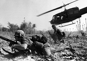 English: Major Crandall's UH-1D helicopter cli...