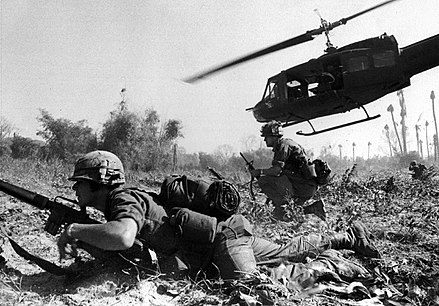 US combat operations during the Battle of Ia Drang, South Vietnam, November 1965 Bruce Crandall's UH-1D.jpg