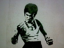 Description de l'image Bruce Lee Stencil.jpg.