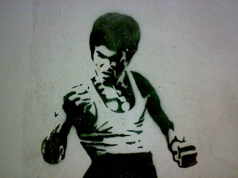 File:Bruce Lee Stencil.jpg
