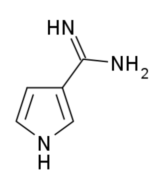 Brunfelsamidine - Image: Brunfelsamidine structure