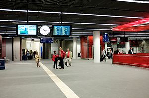 Brussels National Airport railway station - Airport railway station interior