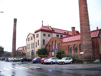 Sewage Plant in Bubeneč (Prague) - Entrance of the building