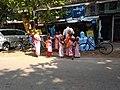 Buddhist female monk IMG 20180407 091948 yan aye street bahan yangoon.jpg