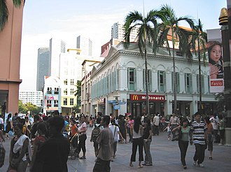 Bugis, Singapore - Original Bugis Street, presently located within Bugis Junction.