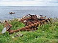 Bulldozer Remains at Ailsa Craig Quarry - geograph.org.uk - 1375407.jpg