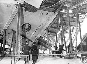 Johann Georg Elser - The Bürgerbräukeller after the 1939 assassination attempt.