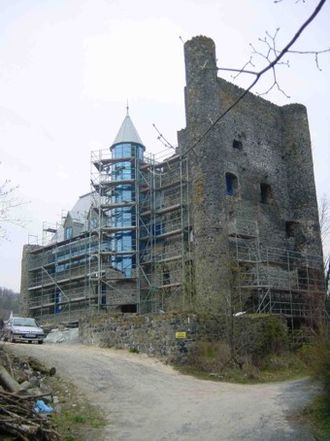 Greifenstein - Beilstein Castle during reconstruction in 2002