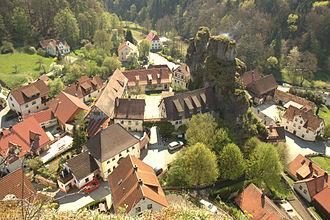 Franconian Switzerland - Tüchersfeld, a village in the Franconian Switzerland