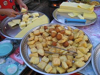 Burmese tofu - Image: Burmese tofu (to hpu)
