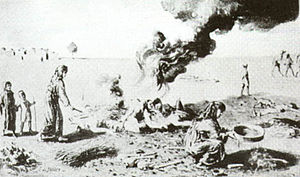 Assyria - The burning of bodies of Christian Assyrian women during the Assyrian Genocide