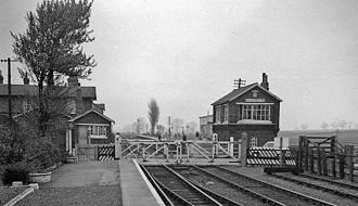 Burton Agnes railway station - The station in 1961