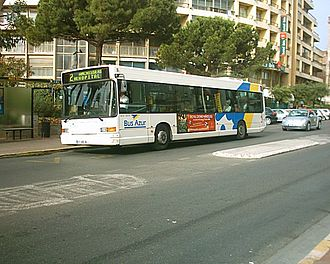 Route nationale 7 - The RN 7 as Avenue Francis Tonner in Cannes.
