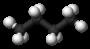 Kugel-Stab-Modell von Butano