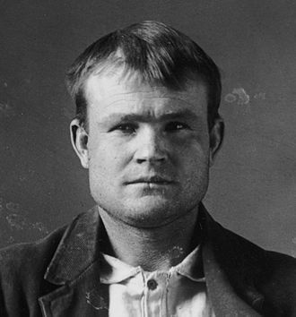 Butch Cassidy - Cassidy's mugshot from the Wyoming Territorial Prison in 1894