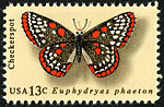 Butterfly Checkerspot 13c 1977 issue U.S. stamp.jpg