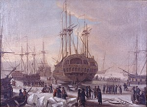 1770 in Denmark - The Danish fleet to Algier prior to its departure from Copenhagen