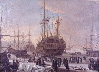 1770 in Denmark - The Danish fleet to Algier prior to its departure from Copenhagen