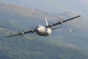 37th Airlift Squadron - C-130J Formation Low-Level