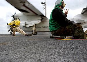 C-2A Greyhound launches from USS Theodore Roosevelt (CVN 71).jpg