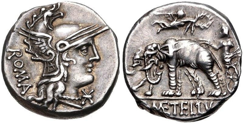 C. Caecilius Metellus Caprarius, denarius, 125 BC, RRC 269-1