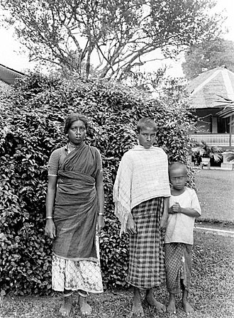 Indian Indonesians - Portrait of an Indian family in Sumatra, 1920s