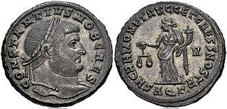 Carausian Revolt - Coin of Constantius Chlorus