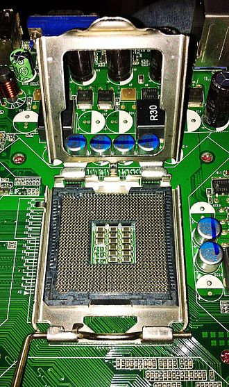 CPU socket - LGA 775, a land grid array socket