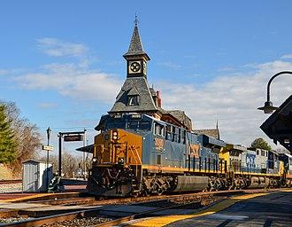 Metropolitan Subdivision - Westbound CSX autorack train on the Metropolitan Subdivision in Point of Rocks