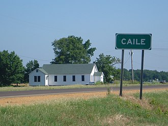 Caile, Mississippi - Image: Caile United Methodist Church 1