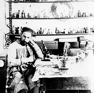 Histology - Santiago Ramón y Cajal in his laboratory