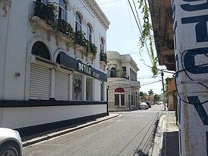 San Pedro de Macorís - Calle Sanchez in the historic center of San Pedro de Macoris.