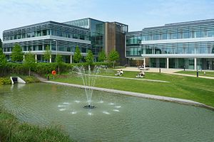 Science park - Cambridge Science Park in England