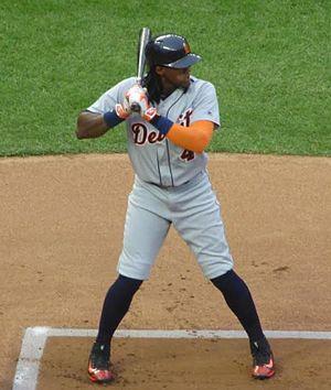 Cameron Maybin - Maybin batting for the Detroit Tigers in 2016