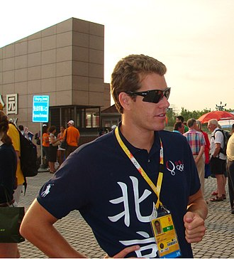 Cameron Winklevoss - Cameron Winklevoss at the 2008 Beijing Olympics