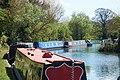 Canal boats moored Saul Marina.jpg