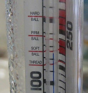 Candy thermometer - Detail of a candy thermometer.