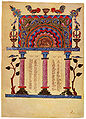 Canonic table from the 13th century gospel by Sembat.jpg
