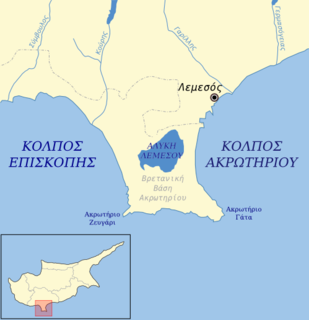 lake in Akrotiri and Dhekelia