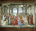 Cappella tornabuoni, 13, imposizione del nome al battista.jpg