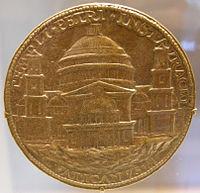 Medalla con el proyecto de Bramante.
