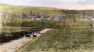 Delčevo - Village Carevo Selo, Makedonija, nowadays Delchevo, photo 1920s
